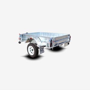 Galvanised Single Axle Box Trailer for Sale Bendigo
